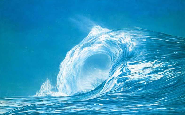 Sea of Light, oil op canvas, 100 x 160 cm